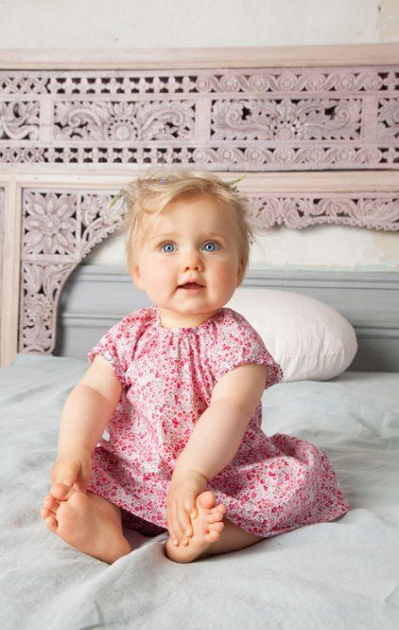Absorba Baby Girl Pink Floral Dress
