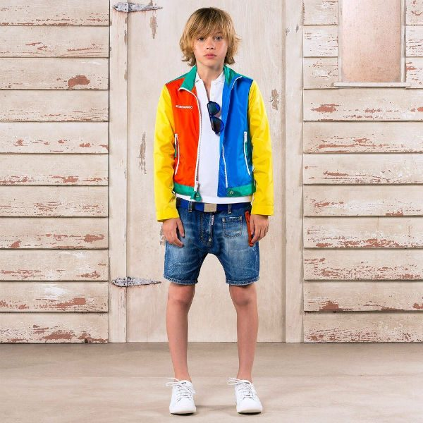DSquared2 Boys Lightweight Color Block Jacket