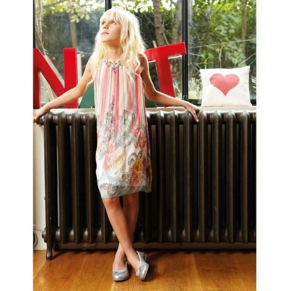 Derhy Kids Pink Cotton Paisley Shift Dress