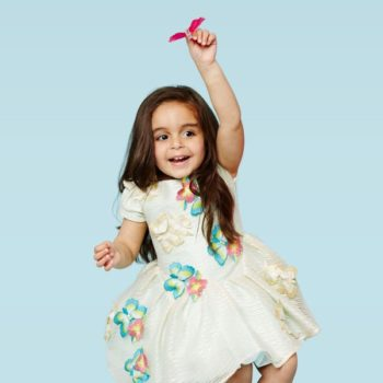 I Pinco Pallino Butterfly & Floral-Embroidered Organza Dress