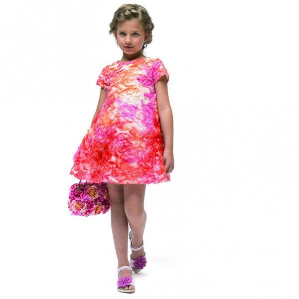 I Pinco Pallino Orange Organza & Sequin Dress