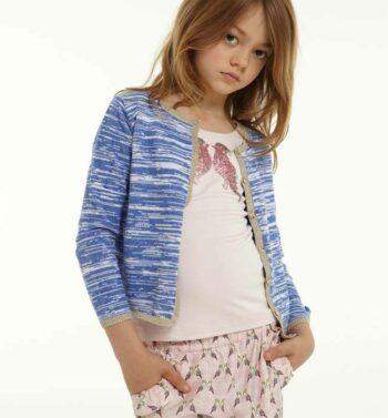 LILI GAUFRETTE Girls Pale Pink Bird Trousers