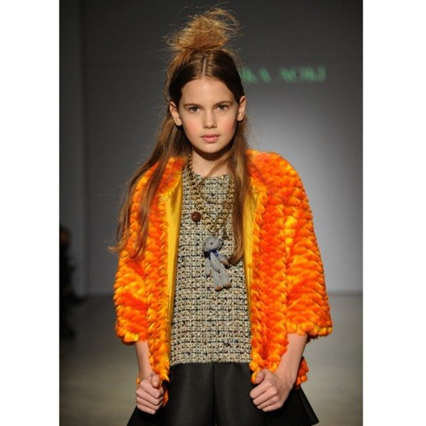 Mischka Aoki The A List Yellow Artificial Fur Jacket