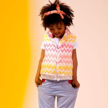 Missoni Orange Pink & Yellow ZigZag Jersey T-Shirt