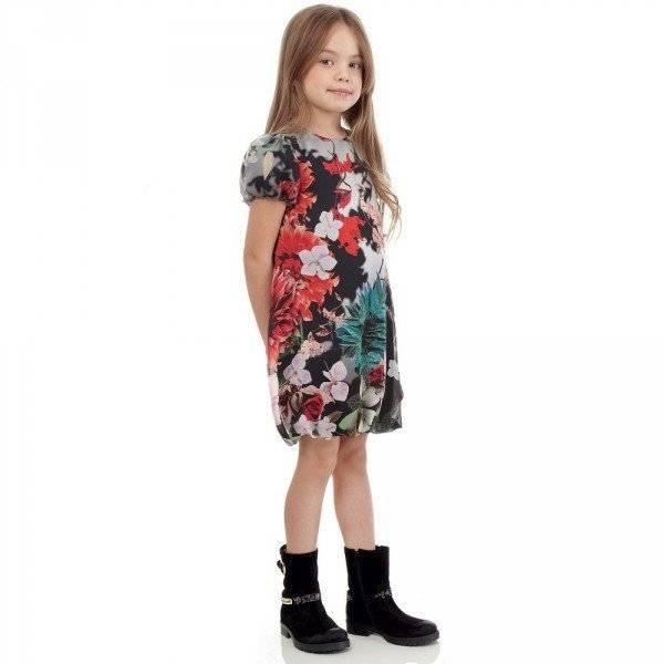 Roberto Cavalli Black Silk 'Antique China' Dress