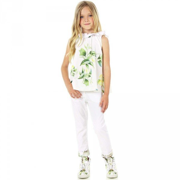 Roberto Cavalli Girls Cotton Jersey 'Yellow Citrus' Top
