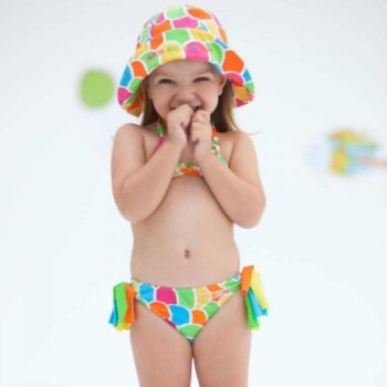 Shop Look AGATHA RUIZ DE LA PRADA Girls Bright Coloured Scales Print Bikini