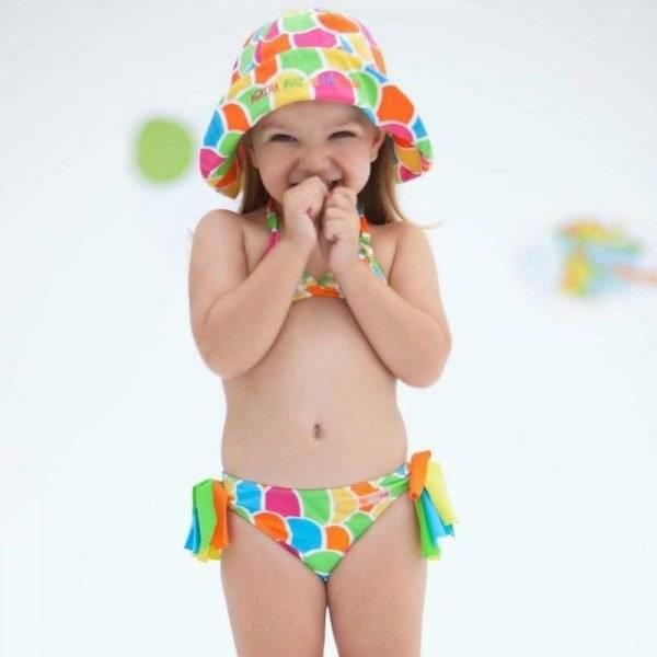 Shop Look AGATHA RUIZ DE LA PRADA Girls Bright Coloured Scales Print Bikini
