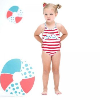 Shop Look AGATHA RUIZ DE LA PRADA Girls Red & White Striped Swimsuit