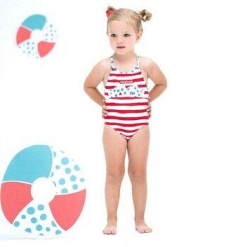 Shop Look AGATHA RUIZ DE LA PRADA Girls Red & White Striped Swimsuit