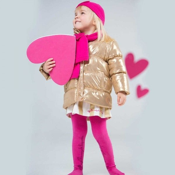 Shop Look AGATHA RUIZ DE LA PRADA Gold Puffer Coat