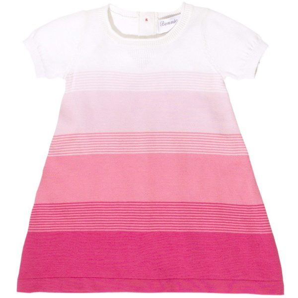 Bonnie Baby Pink Knitted Cotton Dress