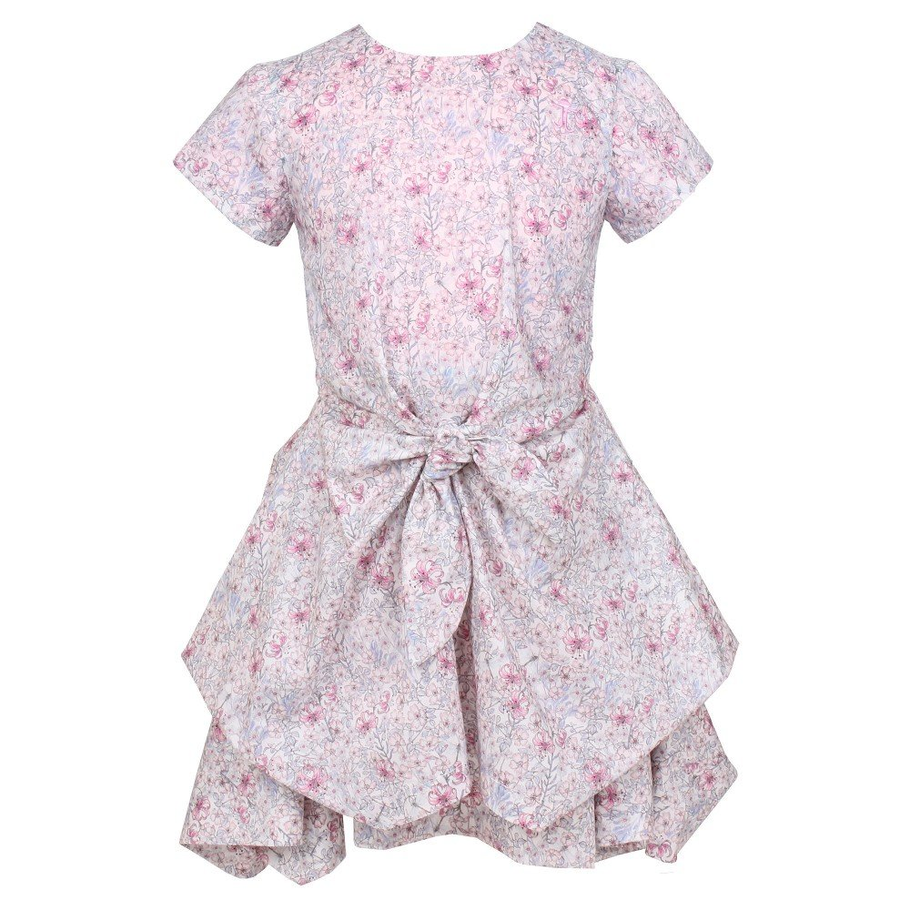 Jessie & James Pink Liberty 'Monroe Flower' Cotton Dress