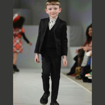 Junior Gaultier Boys Wool Suit