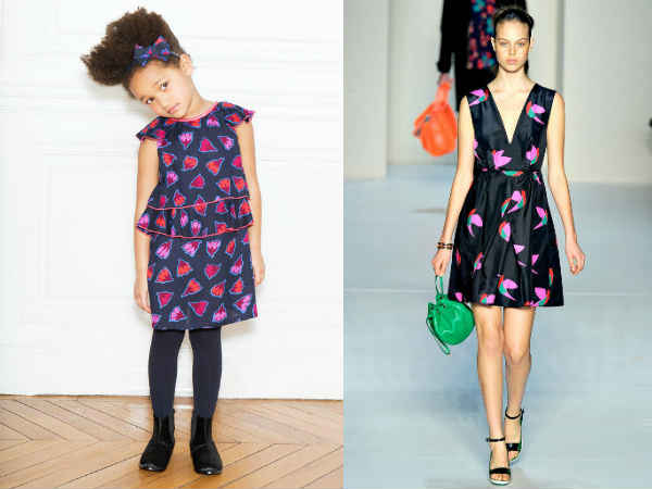 Little Marc Jacobs Girls Geometric Mini Me Dress