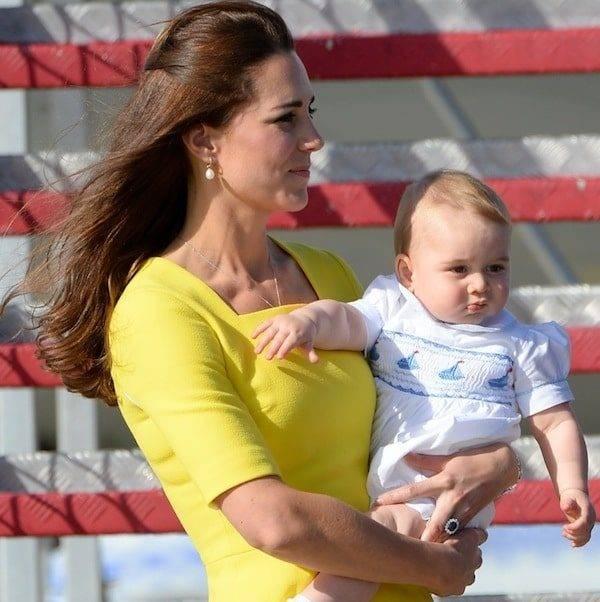 Prince George Wearing Annafie White Smocked Sailor Shortie