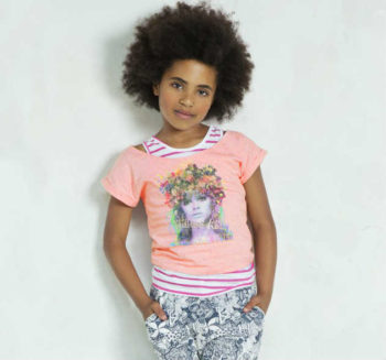 shop Look CAKEWALK Pink T-Shirt with Vest Top