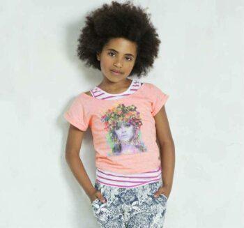 shop Look CAKEWALK Pink T-Shirt with Vest Top