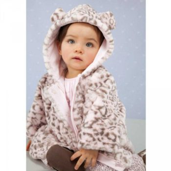 shop look ABSORBA Pink Fur Leopard Pram Coat