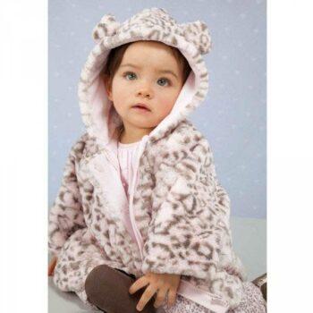 shop look ABSORBA Pink Fur Leopard Pram Coat