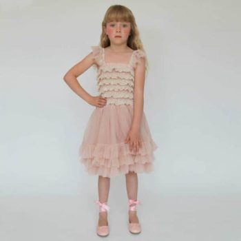 shop look ANGEL'S FACE Blush Pink Ballroom Lace Tulle Dress