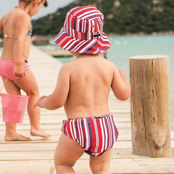 shop look ARCHIMEDE Baby Boys Striped Swim Nappy
