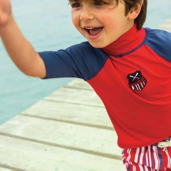 shop look ARCHIMEDE Boys Red UV Sun Protective Swim Top