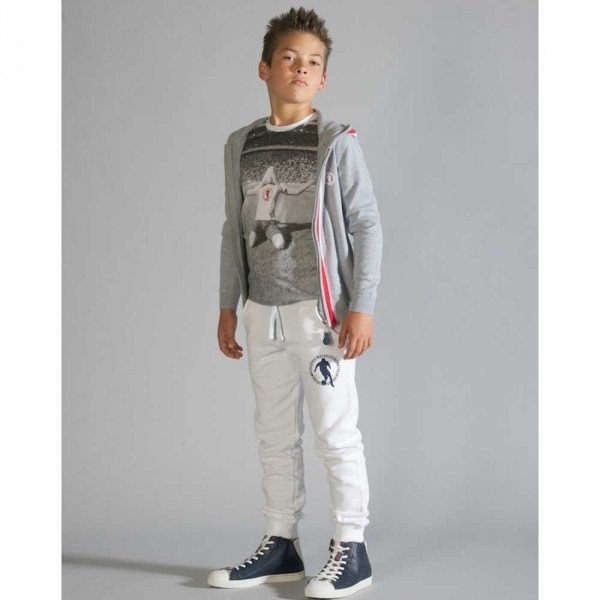 shop look BIKKEMBERGS Boys Photo Print Football T-Shirt
