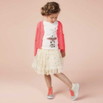 shop look BILLIEBLUSH Girls Neon Pink Knitted Cardigan