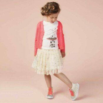 shop look BILLIEBLUSH Girls Neon Pink Knitted Cardigan