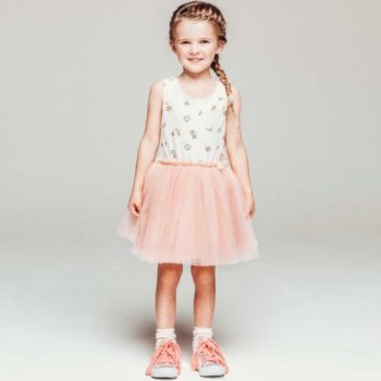 shop look BILLIEBLUSH Jersey Floral Dress with Pink Tulle Skirt