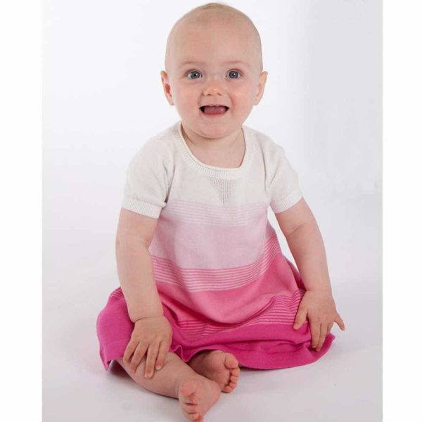 shop look BONNIE BABY Pink Knitted Cotton Dress