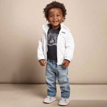 shop look BOSS Baby Boys White Jacket