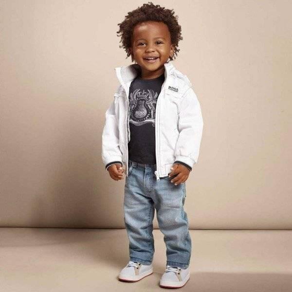 shop look BOSS Baby Boys White Jacket
