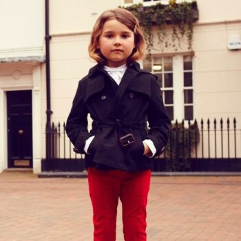 shop look BURBERRY Girls Black Trench Jacket