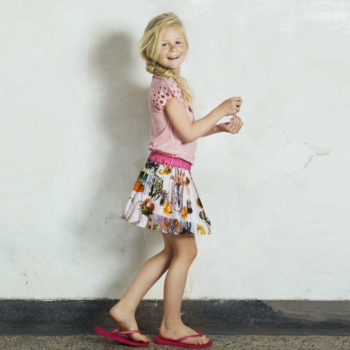 shop look CAKEWALK Vintage Sealife Print Cotton Skirt