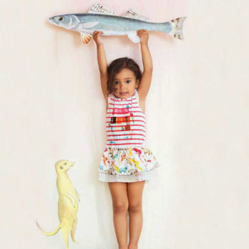 shop look CAKEWALK White & Red Stripe Dress with Ruffle Skirt