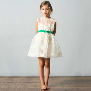 shop look CARAMEL BABY & CHILD Ivory Silk Organza Daisy 'Navassa' Dress