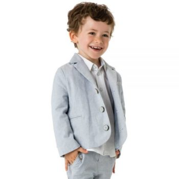shop look CATIMINI Boys Blue Fine Check Blazer