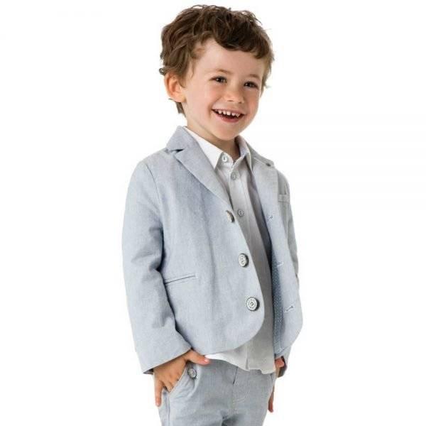 shop look CATIMINI Boys Blue Fine Check Blazer