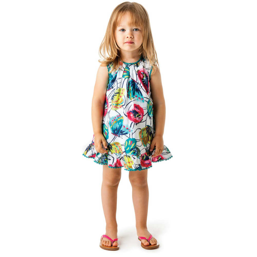 shop look CATIMINI Butterfly Print Cotton Dress