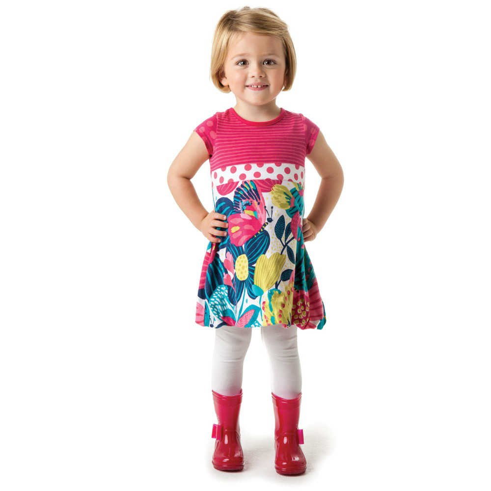 shop look CATIMINI Girls Jersey Floral Bubble Dress