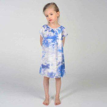 shop look CHARABIA Blue Cloud Print Shift Dress
