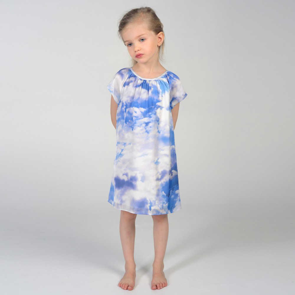 shop look CHARABIA Blue Cloud Print Shift Dress