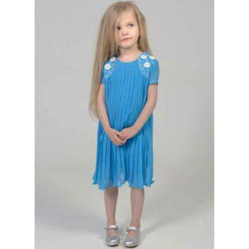 shop look CHARABIA Blue Crepe Chiffon Dress