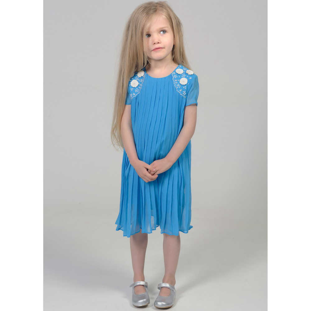 shop look CHARABIA Blue Crepe Chiffon Dress