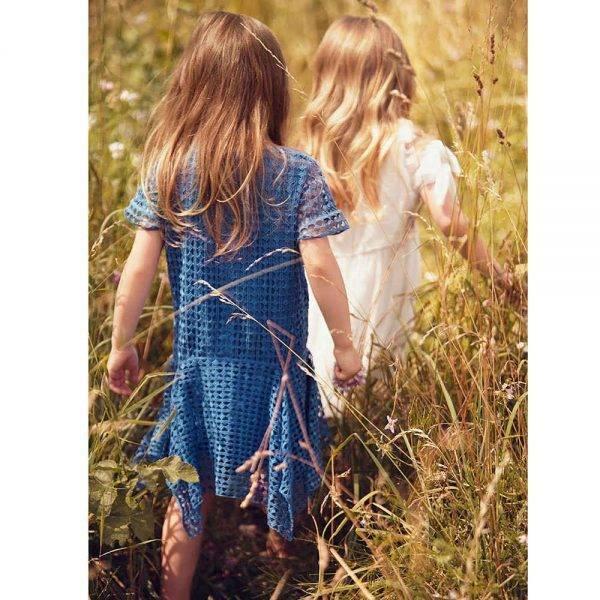k CHLOÉ Blue Cotton Guipure Lace Dress Chloé Blue Cotton Guipure Lace Dress