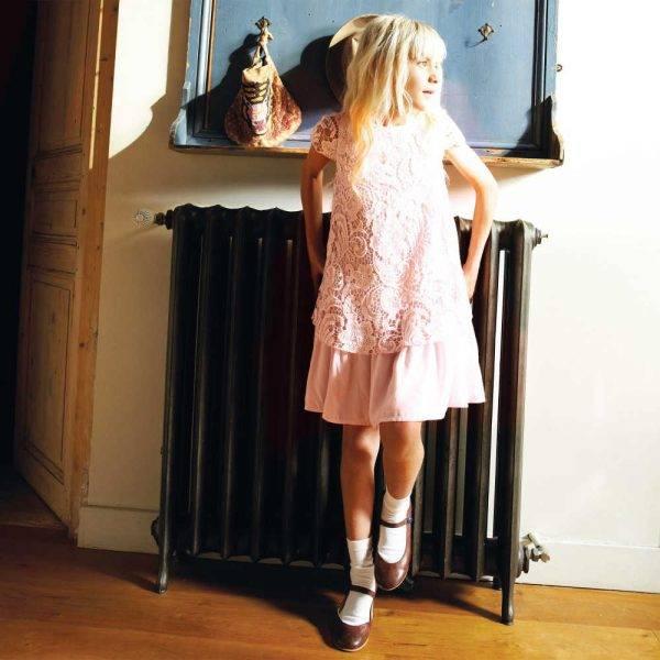 Derhy Kids Pink Lace Layered Dress