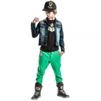 Diesel Kids Boys Blue Studded Denim Jacket