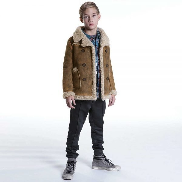DIESEL KIDS BOYS BROWN JACKET
